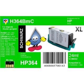 HP364B - TiDis XL Ersatzpatrone - schwarz - mit 24ml Inhalt ersetzt CN684EE/HP364BXL