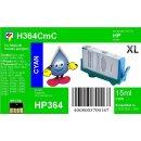 HP364C - TiDis Ersatzpatrone - cyan - mit 15ml Inhalt...