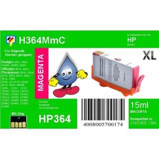 HP364M - TiDis Ersatzpatrone - magenta - mit 15ml Inhalt ersetzt CB324EE/HP364MXL