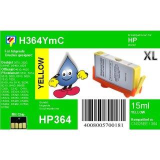 HP364Y - TiDis Ersatzpatrone - yellow - mit 15ml Inhalt ersetzt CB325EE/HP364YXL