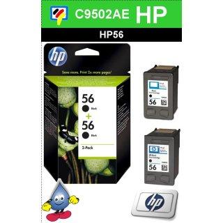 HP56BK - Original Multipack C9502AE-schwarz-Druckpatrone mit 2x 19ml Inhalt zum Superangebotngebot