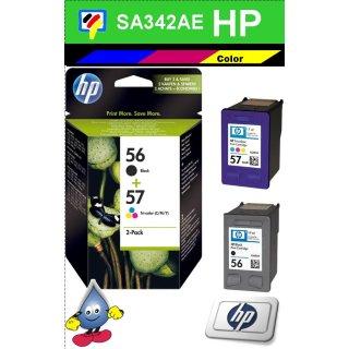 HP56BK/HP57CO - Original SA342AE-schwarz, color-Druckpatronen im Sparpack je 1x schwarz + 1x color zum Superangebot