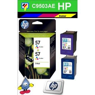 HP57CO - Original C9503AE-color-Druckpatrone mit 2x 17ml Inhalt zum Superangebot