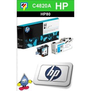 HP80BK - Original C4820A-schwarz-Druckkopf mit 17ml Inhalt zum Superangebot