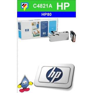 HP80C - Original C4821A-cyan-Druckkopf mit 17ml Inhalt zum Superangebot