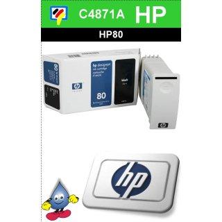 HP80BK - Original C4871A-schwarz-Drucktinte mit 350ml Inhalt zum Superangebot