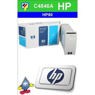 HP80C - Original C4846A-cyan-Drucktinte mit 350ml Inhalt zum Superangebot