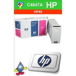 HP80M - Original C4847A-magenta-Drucktinte mit 350ml Inhalt zum Superangebot