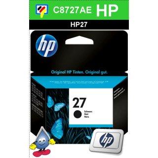 HP27BK - Original C8727AE-schwarz-Druckpatrone mit 10ml und ca. 220 Seiten Druckleistung nach Iso