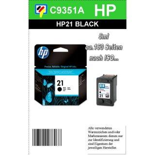 HP21BK - Original C9351AE-schwarz-Druckpatrone mit 5ml zum Superangebot