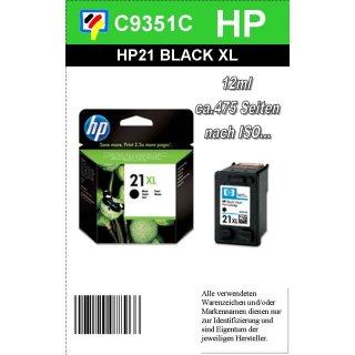 HP21BKXL - Original C9351CE-schwarz-Druckpatrone zum Superangebot