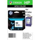 HP22 - Original C9352AE-color-Druckpatrone mit 5ml Inhalt...