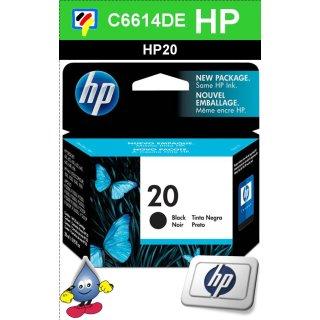 END OF LIVE - HP20BK - Original C6614DE-schwarz-Druckpatrone mit 28ml Inhalt zum Superangebot