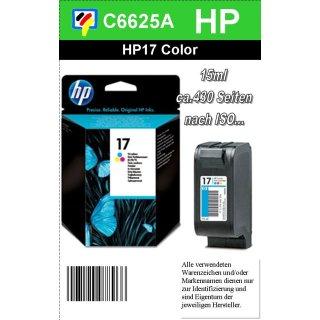 HP17CO - Original C6625AE-color-Druckpatrone mit 15ml Inhalt zum Superangebot