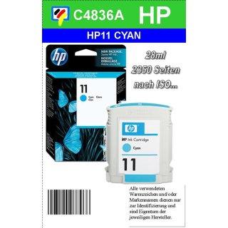 HP11C - Original C4836AE-cyan-Druckpatrone mit 28ml Inhalt zum Superangebot