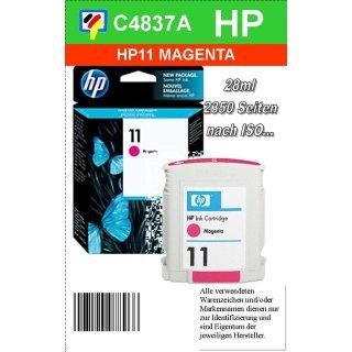 HP11M - Original C4837AE-magenta-Druckpatrone mit 28ml Inhalt zum Superangebot