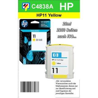 HP11Y - Original C4838AE-gelb-Druckpatrone mit 28ml Inhalt zum Superangebot