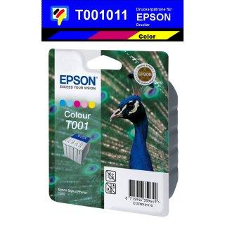 T001011 -5 farbig- Epson Original Druckerpatrone mit 66ml Inhalt -C13T00101110-