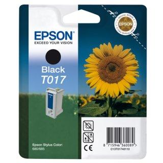 T017401 -schwarz- Epson Original Druckerpatrone mit 17ml Inhalt -C13T01740110-