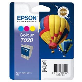 T020401 -color- Epson Original Druckerpatrone mit 35ml Inhalt -C13T02040110-