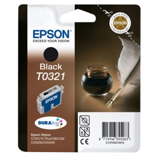 T032140 -schwarz- Epson Original Druckerpatrone mit 33ml Inhalt -C13T03214010-