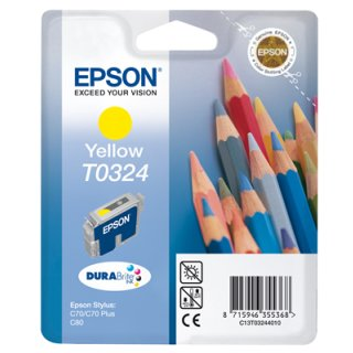 T032440 -yellow- Epson Original Druckerpatrone mit 16ml Inhalt -C13T03244010-